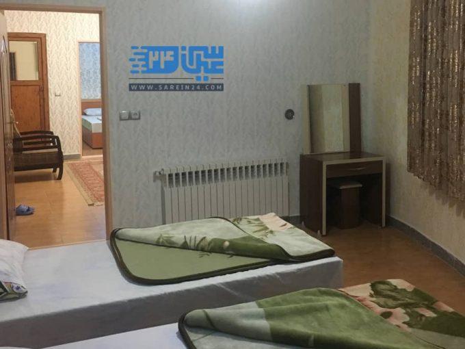 اجاره روزانه آپارتمان دو خوابه چهار تخته در سرعین